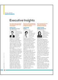 Executive Insights
