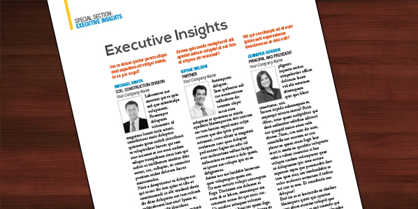 Executive Insights From leaders in Construction Law