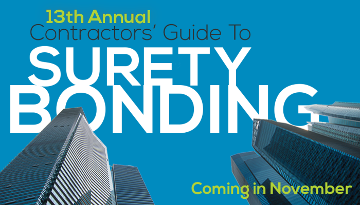 13th Annual Contractors' Guide to Surety Bonding